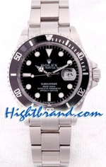 Rolex Submariner Silver Black Face