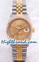 Rolex DateJust - Pink Gold  - Swiss Watch 5