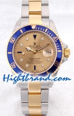 Rolex Submariner Two Tone Gold Face