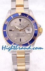 Rolex Submariner Two Tone Silver Face