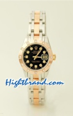 Rolex Replica DateJust Ladies 3 Tone - 1