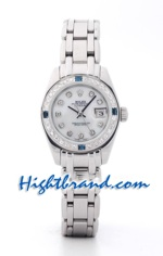 Rolex Replica Datejust Silver Ladies Sapphire 1<font color=red>หมดชั่วคราว</font>