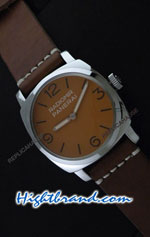 Panerai Radiomir California Vintage Homage in Orange Dial Swiss Replica Watch 09