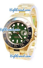 Rolex Replica GMT Masters II Gold - Swiss Watch 10