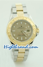 Rolex Yachtmaster Two Tone Boy Sized 1