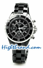 Chanel J12 Authentic Ceramic Chrono Ladies 1