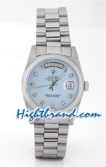 Rolex Replica Day Date Mother Of Pearl Blue Dial
