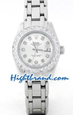 Rolex Replica Datejust Silver Ladies - Silver Face