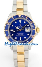 Rolex Submariner Two Tone Blue Face