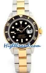 Rolex Submariner Two Tone Black Face